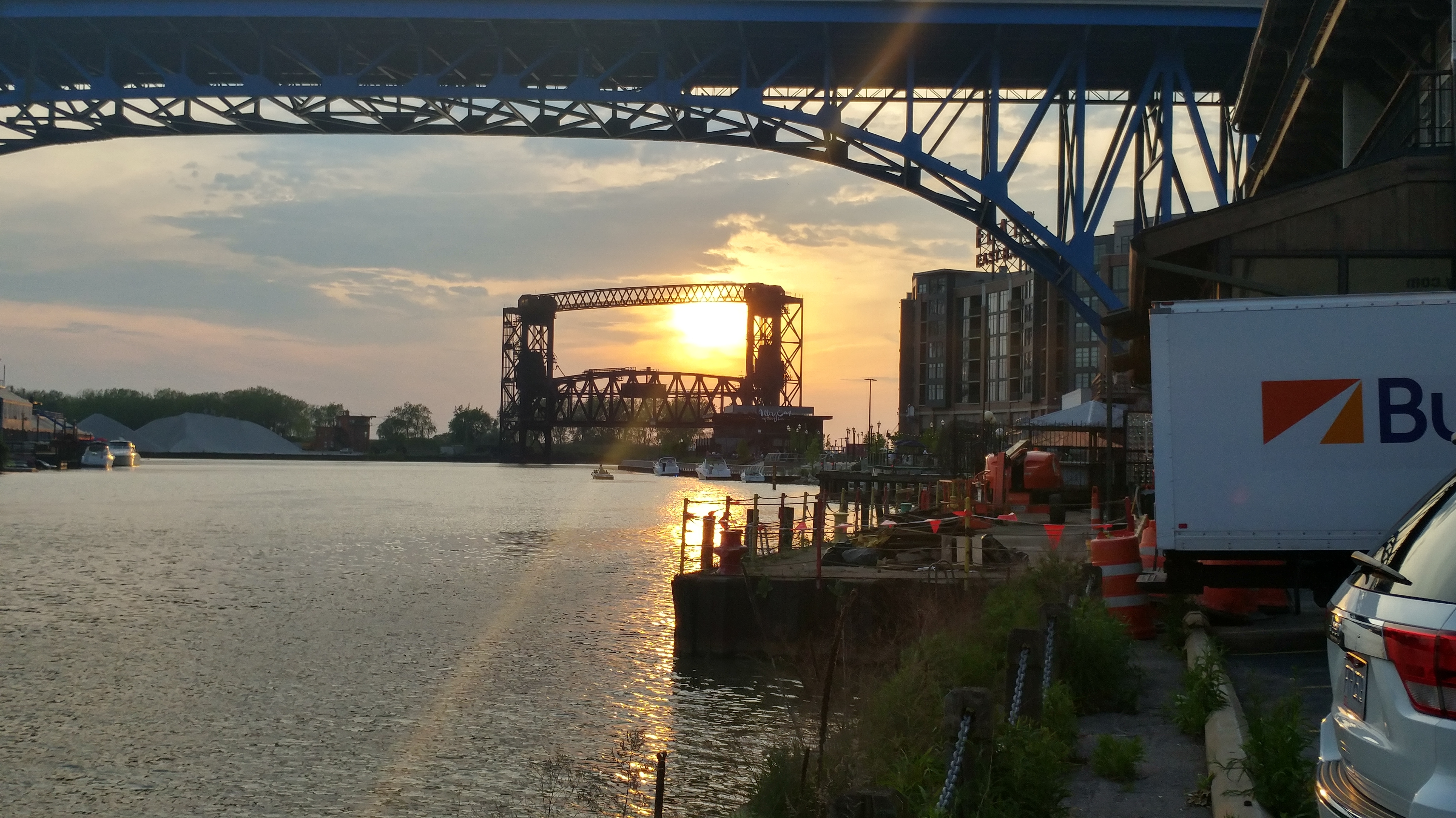 Cuyahoga River Sunset