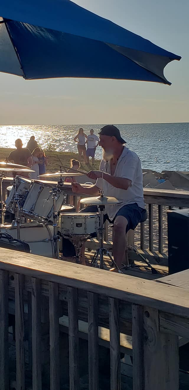Nate rocking it out at the 3rd Thursday Music, Flowers and a Sunset in Vermilion Ohio